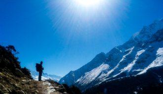 Trekker in Everest