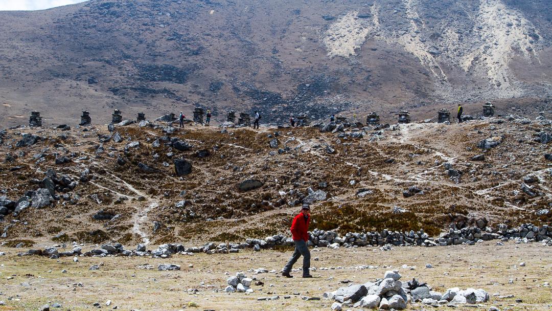 Trekkers in Everest
