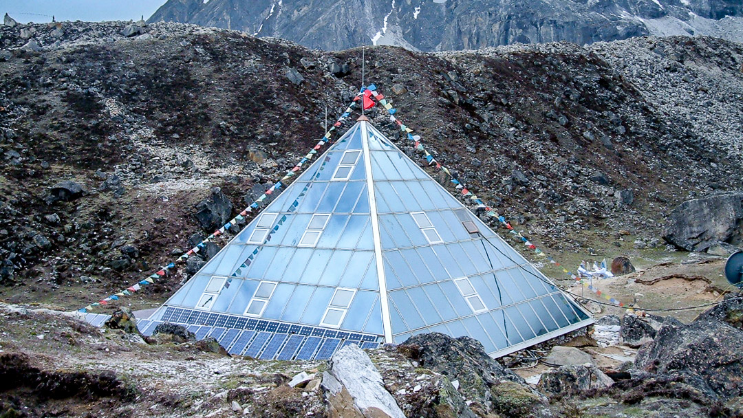 Ev-K2-CNR or The Pyramid (research center) at Lobuche