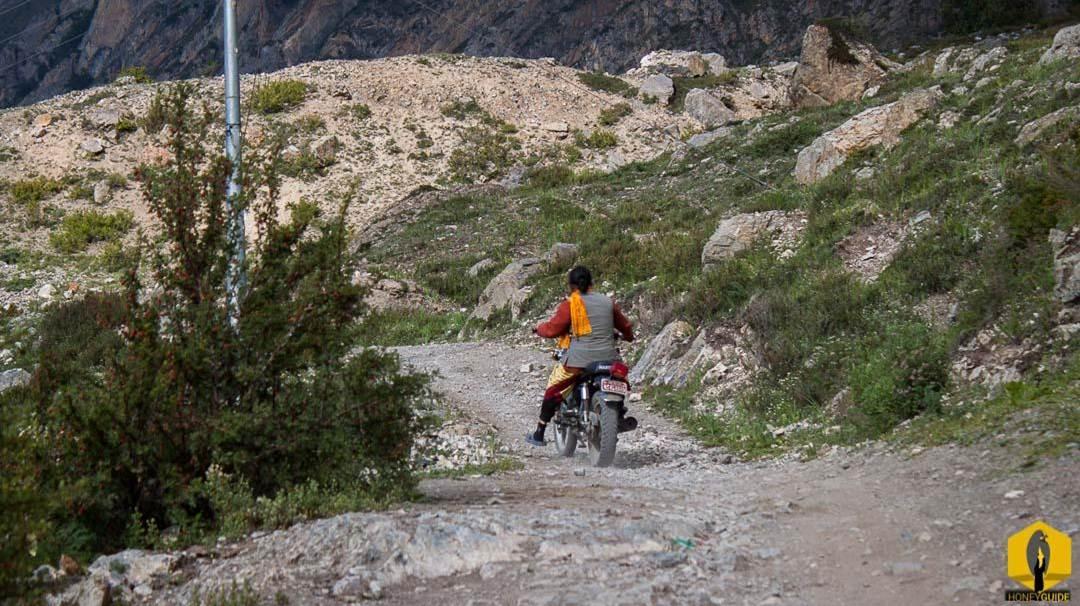 A Hindu Priest of a Dirt Bike.
