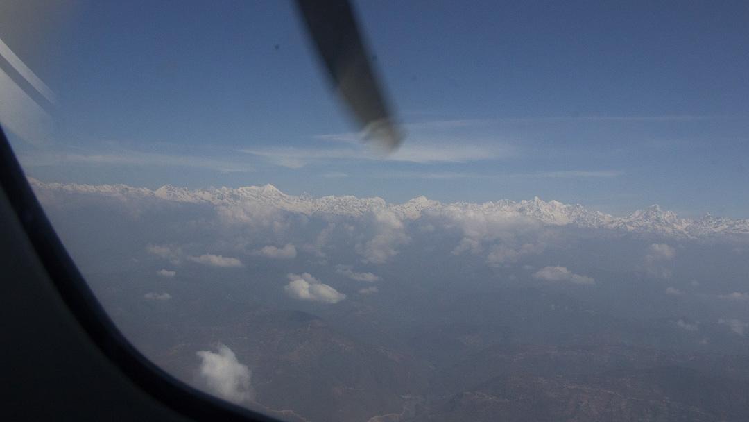 Mountains on Lukla Flights