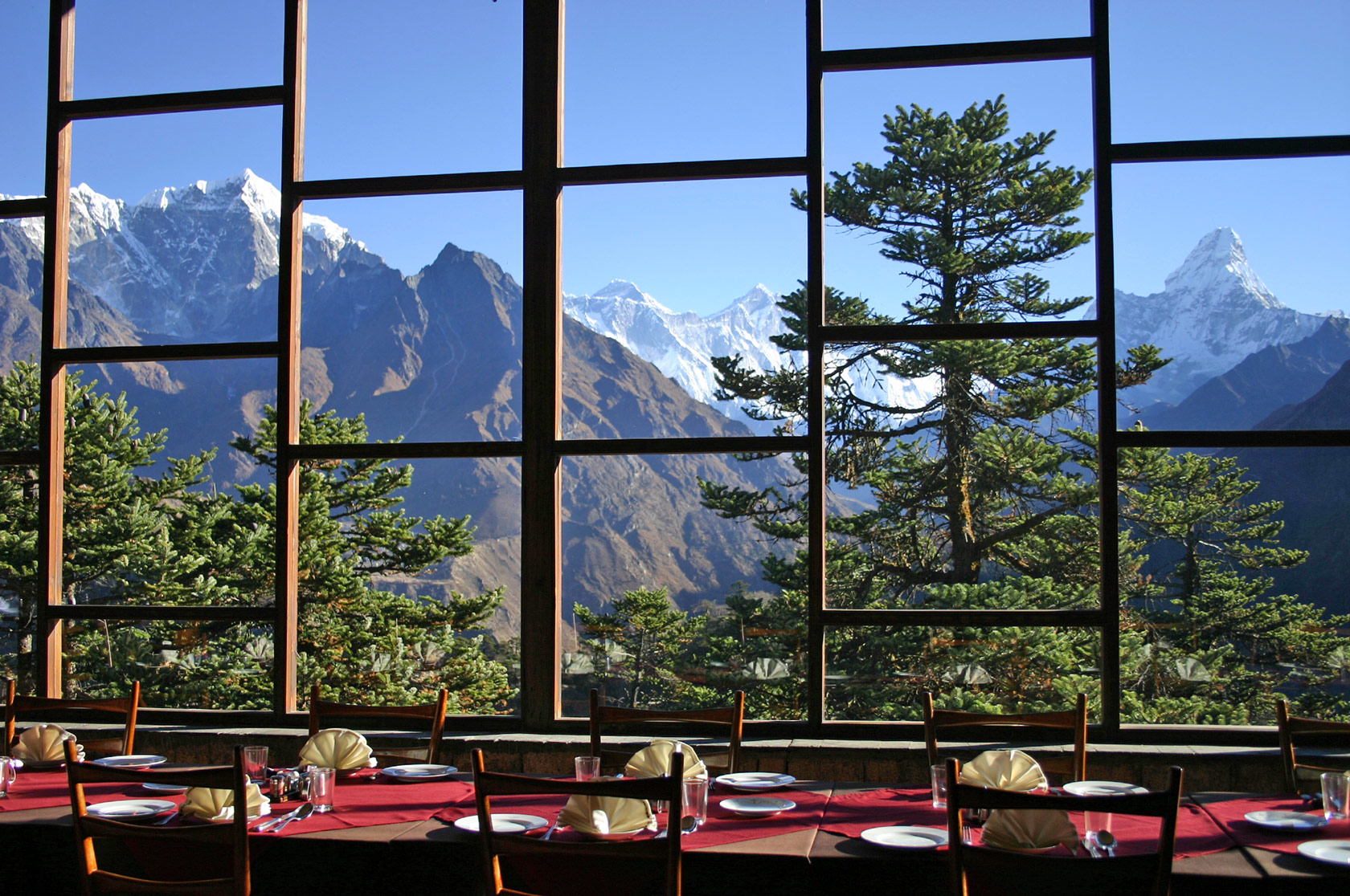 Dining hall in Hotel Everest View