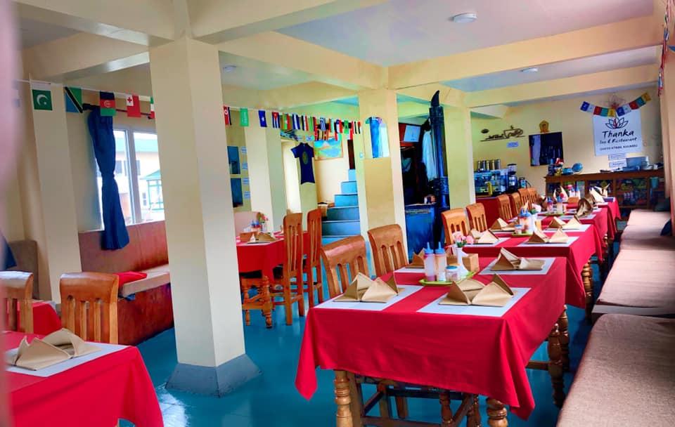 Dining hall in Hotel Thanka Inn, Gokyo