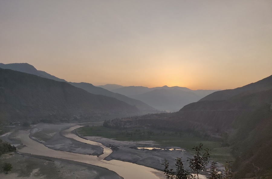 Sunrise Caught early morning on the way to Manthali Airport, Ramechhap