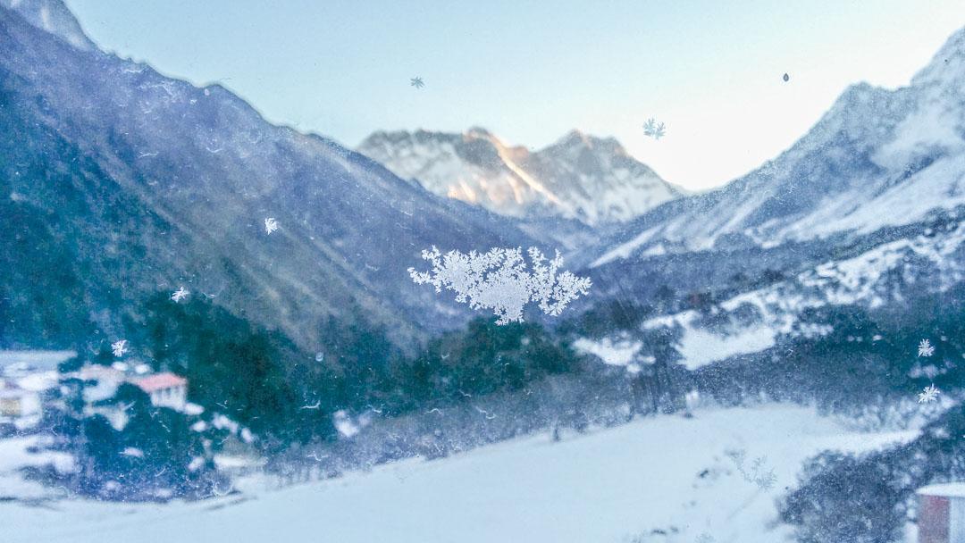 Mount Everest from Tengboche.