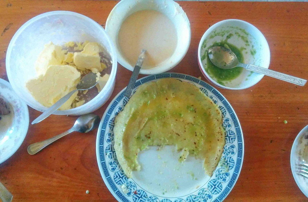 Sherpa food in Everest- Rikikur and Syomar