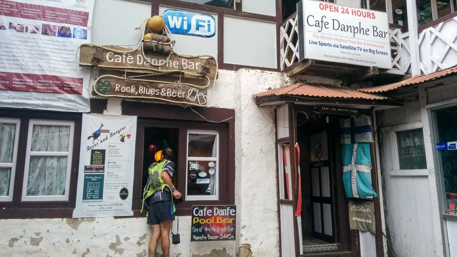 Cafe Danphe in Namche Bazaar