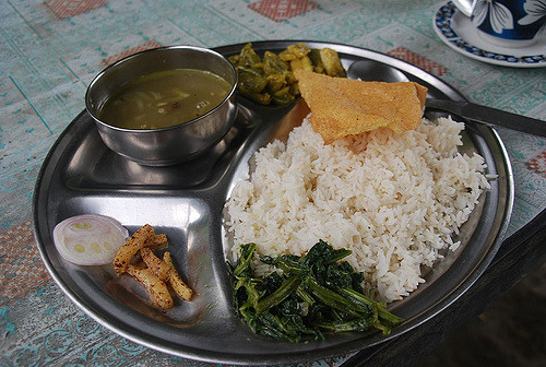 Dal-Bhat, the soul food of Nepalese.