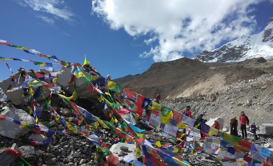 Trekkers in Everest Base Camp