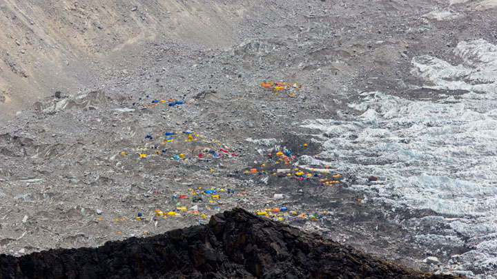 Everest Base Camp from Above