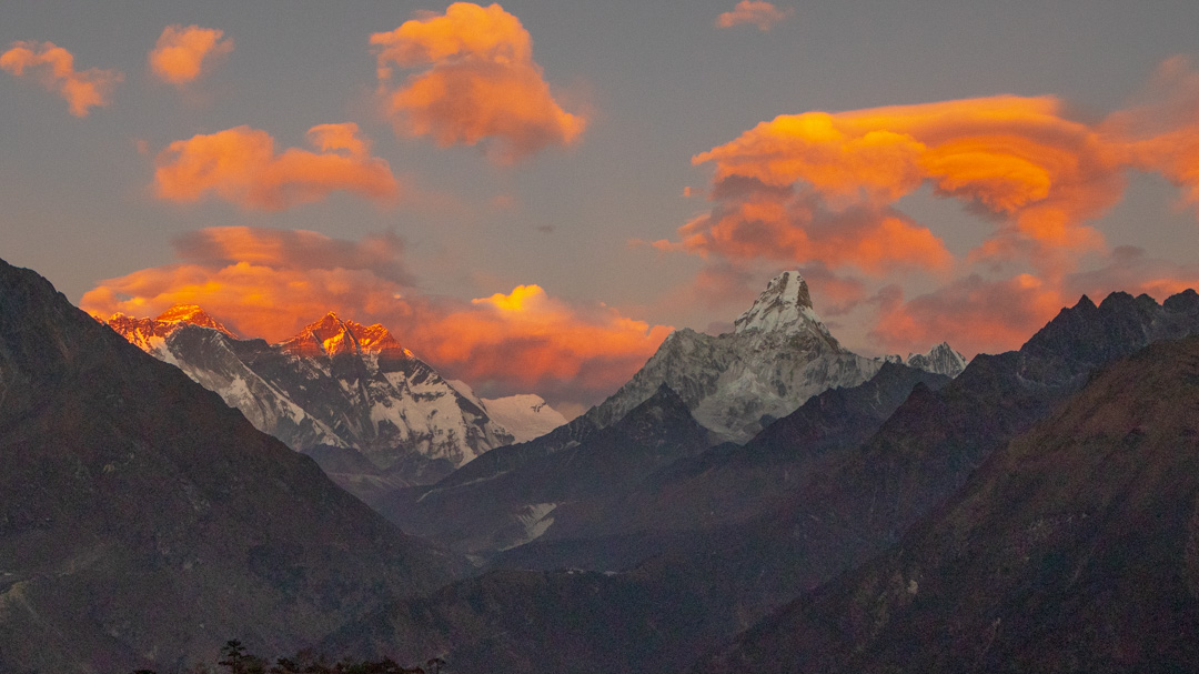 Ama Dablam and Everest from Hotel Everest View