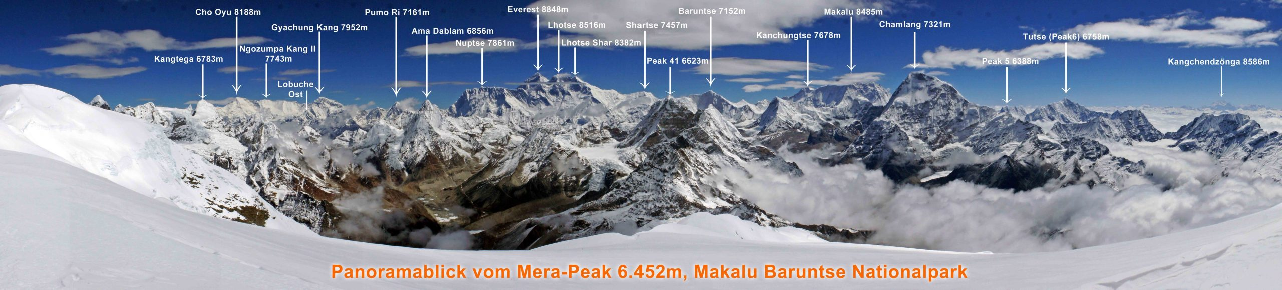 Everest Panorama from Mount Mera