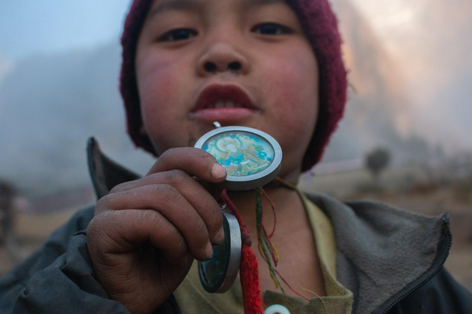 A Kid with Guru Rimpoche